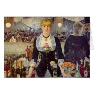 Une barre chez le Folies-Bergère - l'Edouard Manet Carte De Vœux