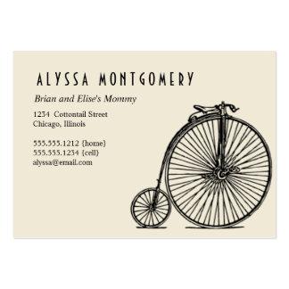 une bicyclette faite pour deux :  carte de maman carte de visite grand format