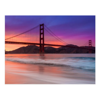 Une capture de golden gate bridge de San Francisco Carte Postale