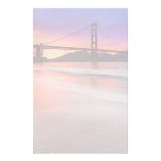 Une capture de golden gate bridge de San Francisco Papier À Lettre Customisé