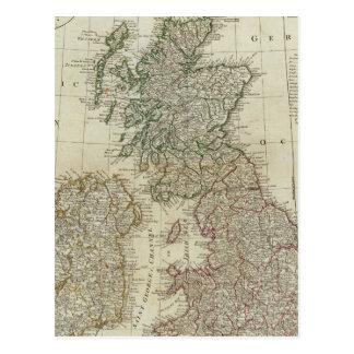 Une carte complète des îles britanniques cartes postales
