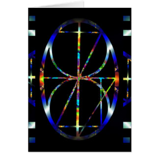 Une carte cosmique de mandala de fractale d'oeufs