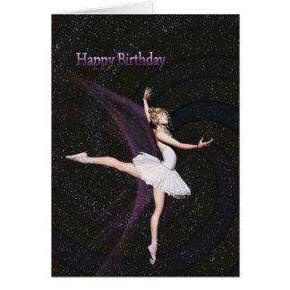 Une carte d'anniversaire de ballerine
