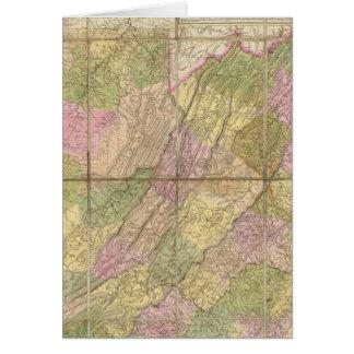 Une carte de la Virginie