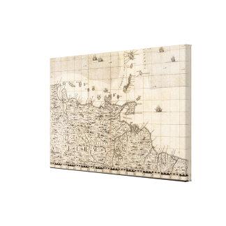 Une carte de l'Empire Britannique en feuille 19 de Toiles