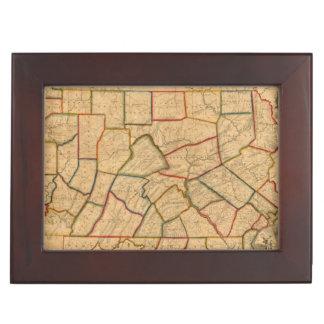 Une carte de l'état de la Pennsylvanie Boîte À Souvenirs