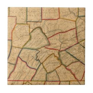 Une carte de l'état de la Pennsylvanie Petit Carreau Carré