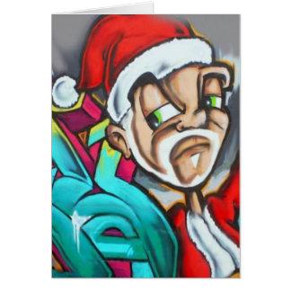 Une carte de Noël de graffiti par le DMT