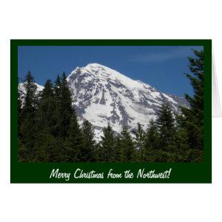 Une carte de Noël plus pluvieuse de parc de Mt