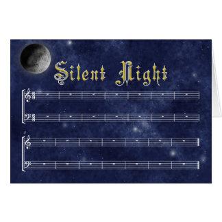 Une carte de Noël silencieuse de nuit