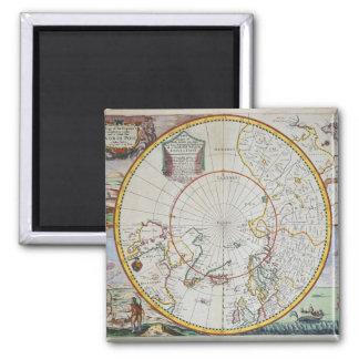 Une carte du Pôle Nord Magnet Carré