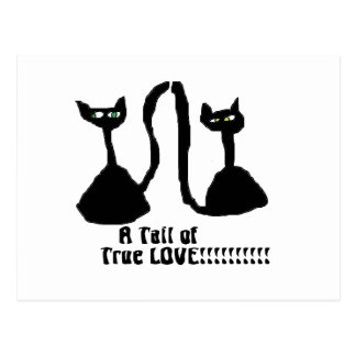 Une carte postale de chat d'amour de purrfect