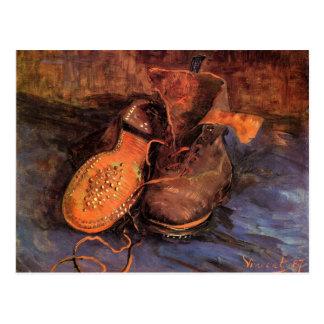 Une carte postale de la paire de chaussures de Van