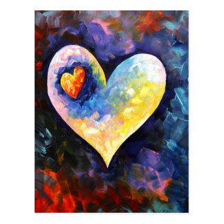 Une carte postale partie de battement de coeur