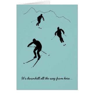 Une carte pour un skieur