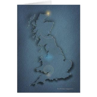 Une carte simple des îles britanniques avec le