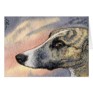 Une CARTE timide et belle de chien