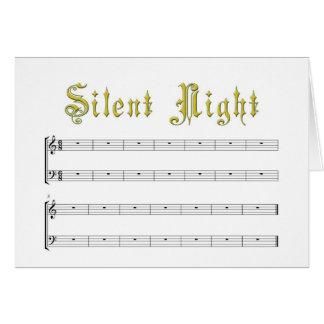 Une carte vierge de nuit vraiment silencieuse