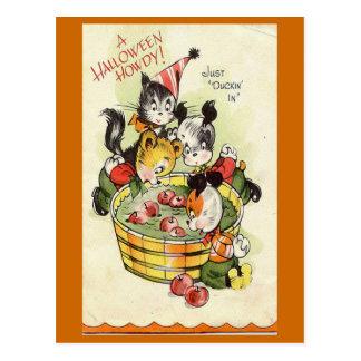 """Une carte vintage de Halloween allo"" Halloween Carte Postale"