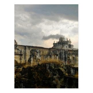 Une cathédrale dans les ruines (Guatemala) Carte Postale