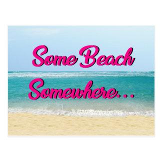 Une certaine de plage carte postale quelque part