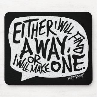 Une citation de motivation de typographie de tapis de souris