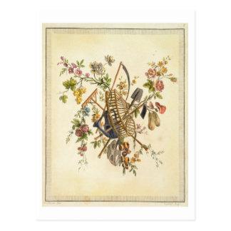 Une conception de textile de jardin, 'de l'ONU Carte Postale