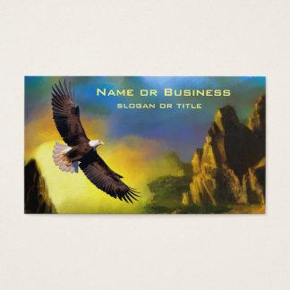 Une conception patriotique avec Eagle chauve Cartes De Visite