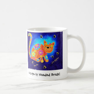 Une coupure mignon nécessaire ! - Chat bleu Mug