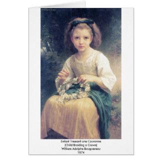 Une Couronne de Bouguereau - d'Enfant Tressant Carte De Vœux