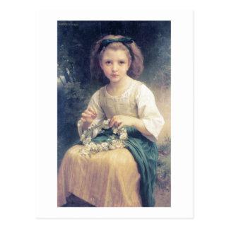 Une Couronne de Bouguereau - d'Enfant Tressant Carte Postale