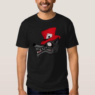 Une course de T-shirt de loup solitaire de chance