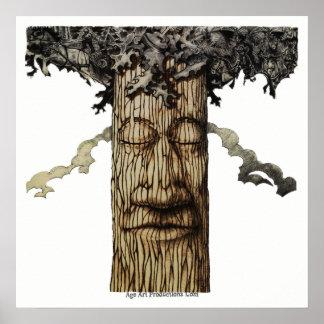 Une couverture puissante d'arbre posters