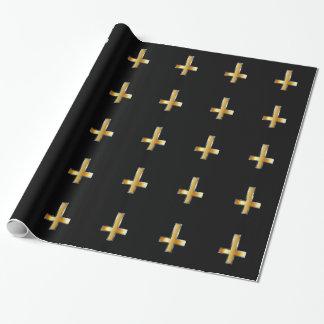 Une croix inversée la croix de St Peter Papier Cadeau