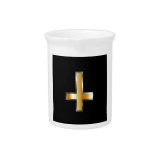 Une croix inversée la croix de St Peter Pichet