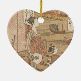 Une de trente-six fleurs (bois de graveur ornement cœur en céramique