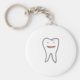 Une dent très heureuse porte-clés