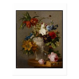 Une disposition avec des fleurs, 19ème siècle carte postale