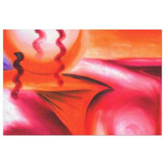 Une éclaboussure du jazz et de la couleur.  Grand Papier Mousseline