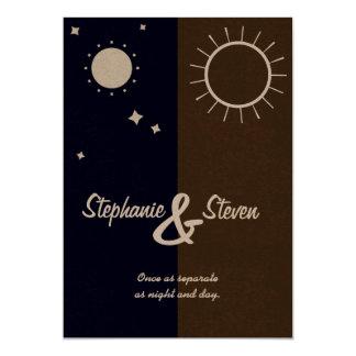 Une éclipse matrimoniale carton d'invitation  12,7 cm x 17,78 cm