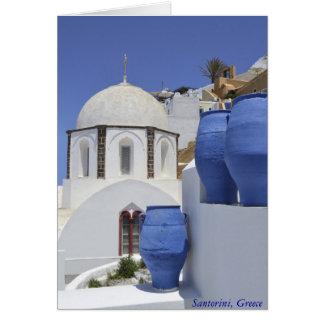 Une église dans Santorini, Grèce Cartes