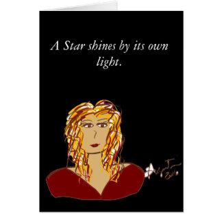 Une étoile brille par sa propre carte de note