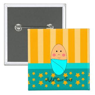 Une étoile est bouton né de bébé badge avec épingle
