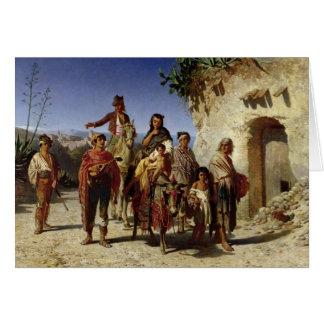 Une famille gitane sur la route, c.1861 cartes