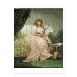 Une femme a appelé Anne, l'épouse de l'artiste, Carte Postale
