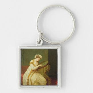Une femme turque, 1773 porte-clé carré argenté
