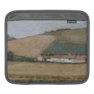 Une ferme parmi des collines, Giverny, c.1887 Housses iPad