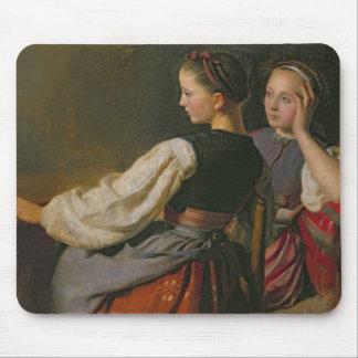 Une fille de Probsteier, 1844 Tapis De Souris