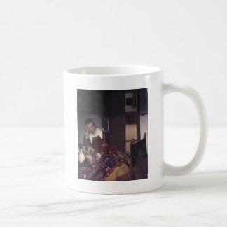 Une fille endormie par Johannes Vermeer Mugs À Café