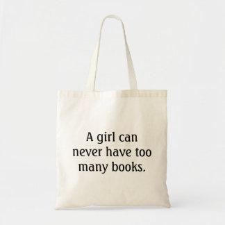 Une fille peut ne jamais avoir trop de livres - tote bag